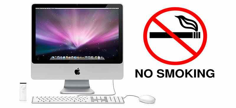 Smoking near a Mac device - Len Academy