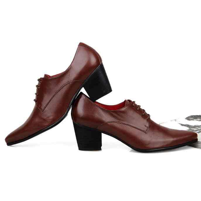 Men big heel shoe - Len Academy