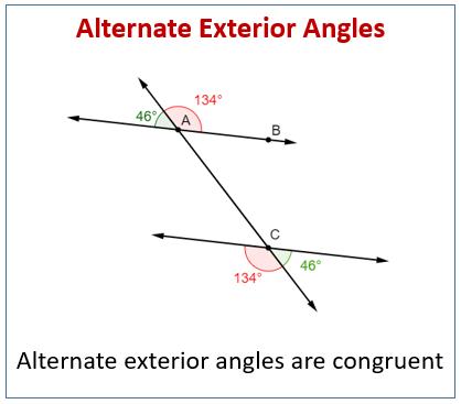 Alternate Exterior Angles - Len Academy